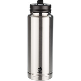 MIZU 360 V12 Bottle 1200ml with Stainless&Straw Lid, black